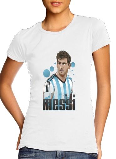 Football Legends: Lionel Messi - Argentina für Damen T-Shirt