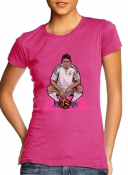 Women T-shirt short sleeve round neck  Football Stars: James Rodriguez - Real Madrid