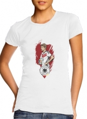Women T-shirt short sleeve round neck  Football Stars: Thomas Müller - Germany