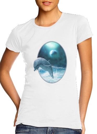 Freedom Of Dolphins für Damen T-Shirt