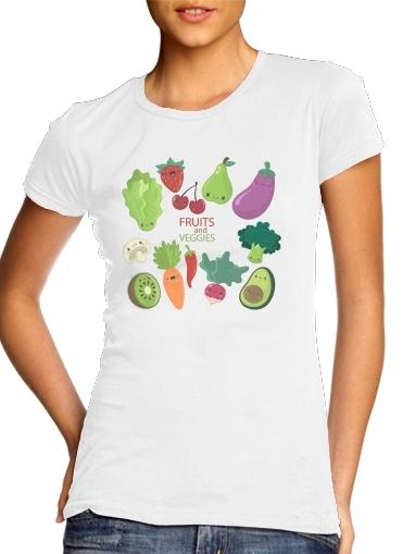 Fruits and veggies für Damen T-Shirt