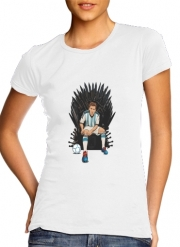 Women T-shirt short sleeve round neck  Game of Thrones: King Lionel Messi - House Catalunya