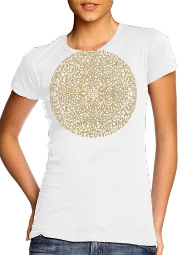 Geometric Bohemian Mandala für Damen T-Shirt