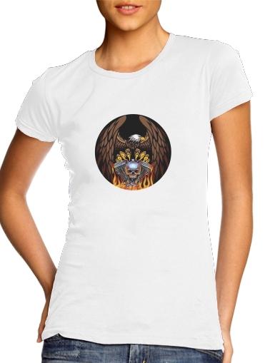 T-Shirts Harley Davidson Skull Engine