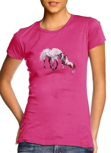 Horses Love Forever für Damen T-Shirt