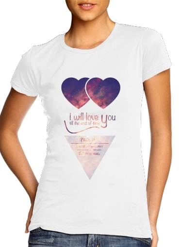 Women T-shirt short sleeve round neck  I will love you