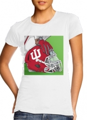 Women T-shirt short sleeve round neck  Indiana College Football