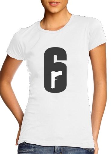 Inspiration Rainbow 6 Siege - Pistol inside Gun für Damen T-Shirt