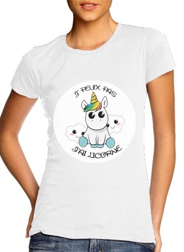 Je peux pas jai licorne für Damen T-Shirt