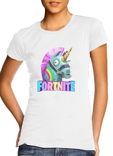 Unicorn Videospiele Fortnite für Damen T-Shirt