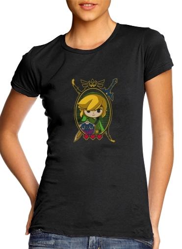 Link Portrait für Damen T-Shirt