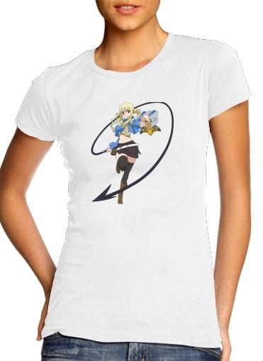 Lucy heartfilia para T-shirt branco das mulheres