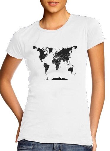 Weltkarte Welt für Damen T-Shirt