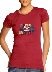 Women T-shirt short sleeve round neck  Mashup GTA and House of Cards