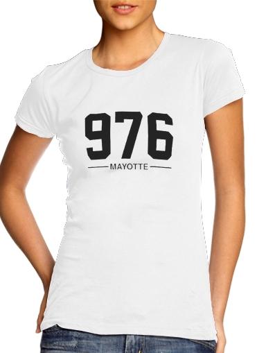 Mayotte Carte 976 für Damen T-Shirt