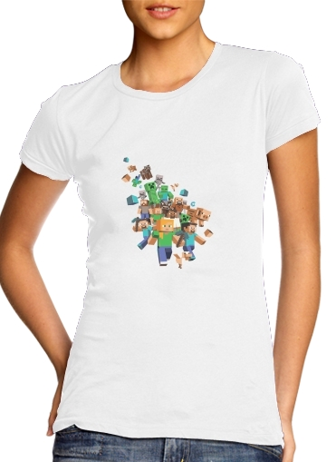 Minecraft Creeper Forest für Damen T-Shirt