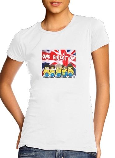 Minions mashup One Direction 1D für Damen T-Shirt
