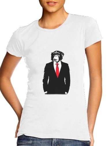 Affe häuslich für Damen T-Shirt