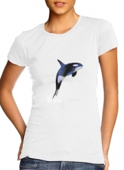 Women T-shirt short sleeve round neck  Orca Whale