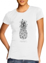 Women T-shirt short sleeve round neck  PineApplle