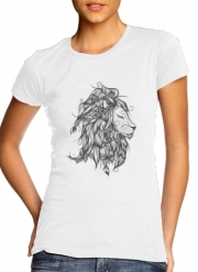 Women T-shirt short sleeve round neck  Poetic Lion