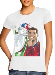 Women T-shirt short sleeve round neck  Portugal Campeoes da Europa