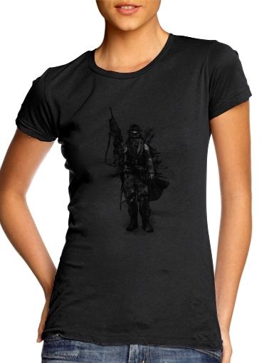 Post Apocalyptic Warrior für Damen T-Shirt