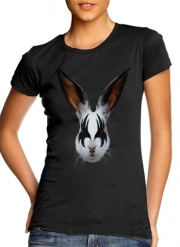 Women T-shirt short sleeve round neck  Kiss of a rabbit punk