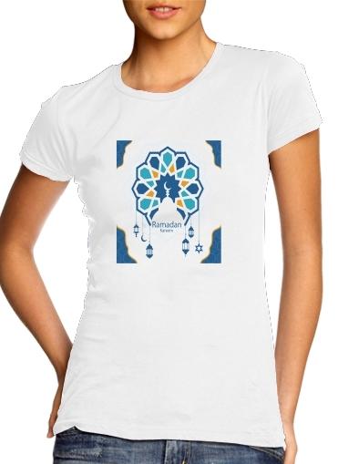 Ramadan Kareem Blue für Damen T-Shirt