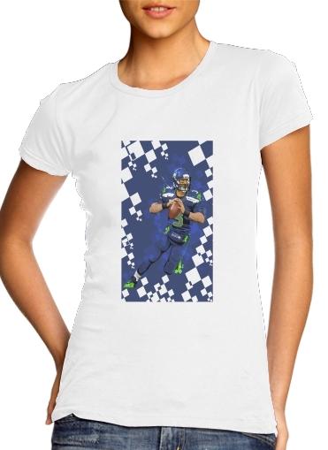Seattle Seahawks: QB 3 - Russell Wilson für Damen T-Shirt