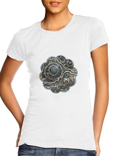 Silver glitter bubble cells für Damen T-Shirt