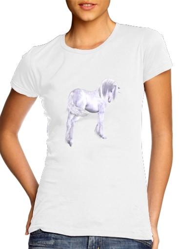 Silbernes Einhorn für Damen T-Shirt