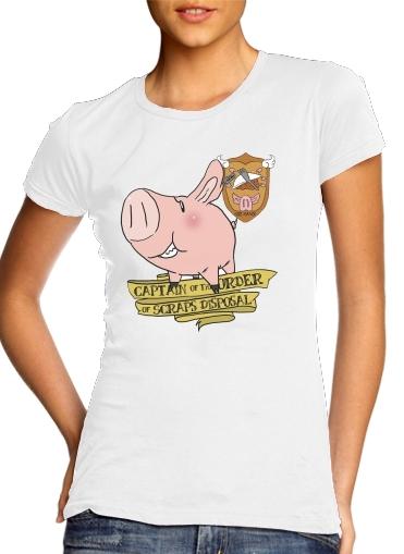 Sir Hawk Wildschwein oder Schwein für Damen T-Shirt