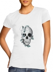 Women T-shirt short sleeve round neck  Skull Boho