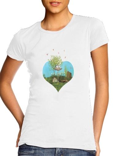 Summer Feeling Birds für Damen T-Shirt