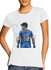 Women T-shirt short sleeve round neck  The Blue Beast