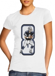 Women T-shirt short sleeve round neck  The triplets leader QB 8
