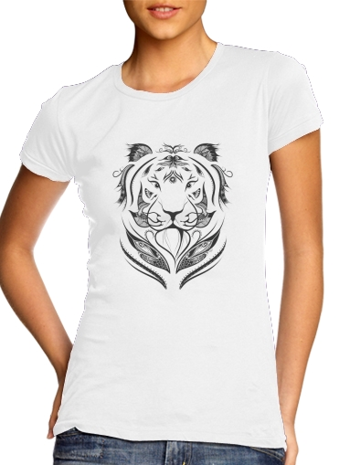 Women T-shirt short sleeve round neck  Tiger Feather
