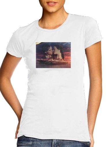 Titanic Fanart Collage für Damen T-Shirt
