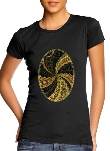 Twirl and Twist black and gold für Damen T-Shirt