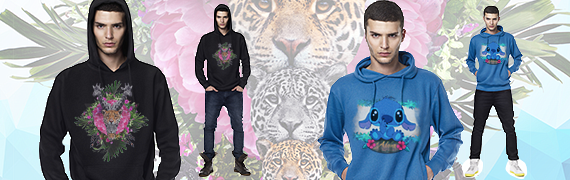 homme pull � capuche